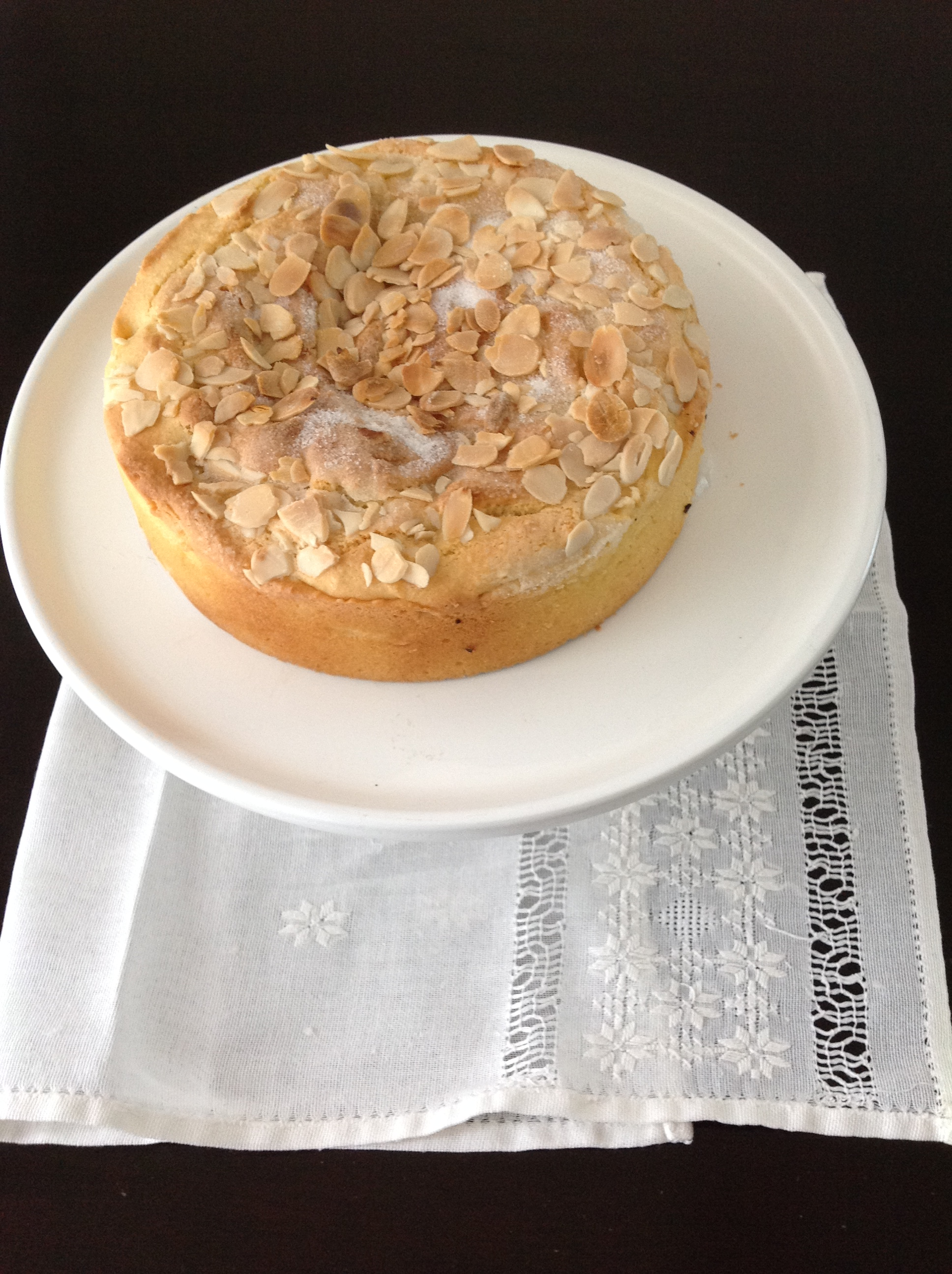 Torta de almendras y manzana sin gluten