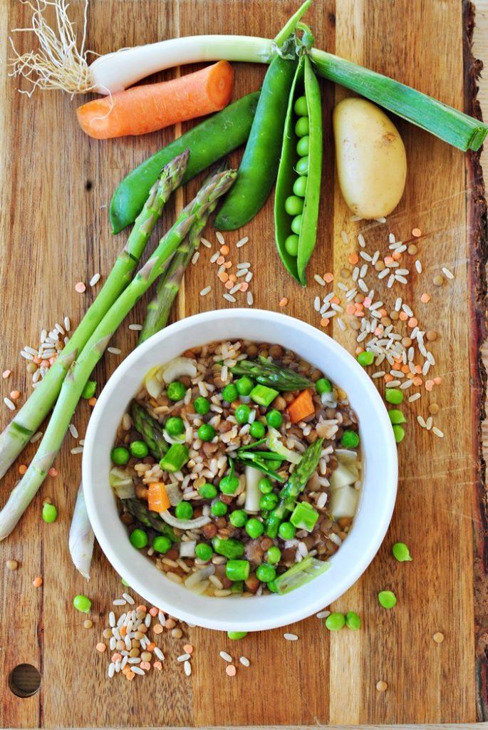 zuppa primavera senza glutine