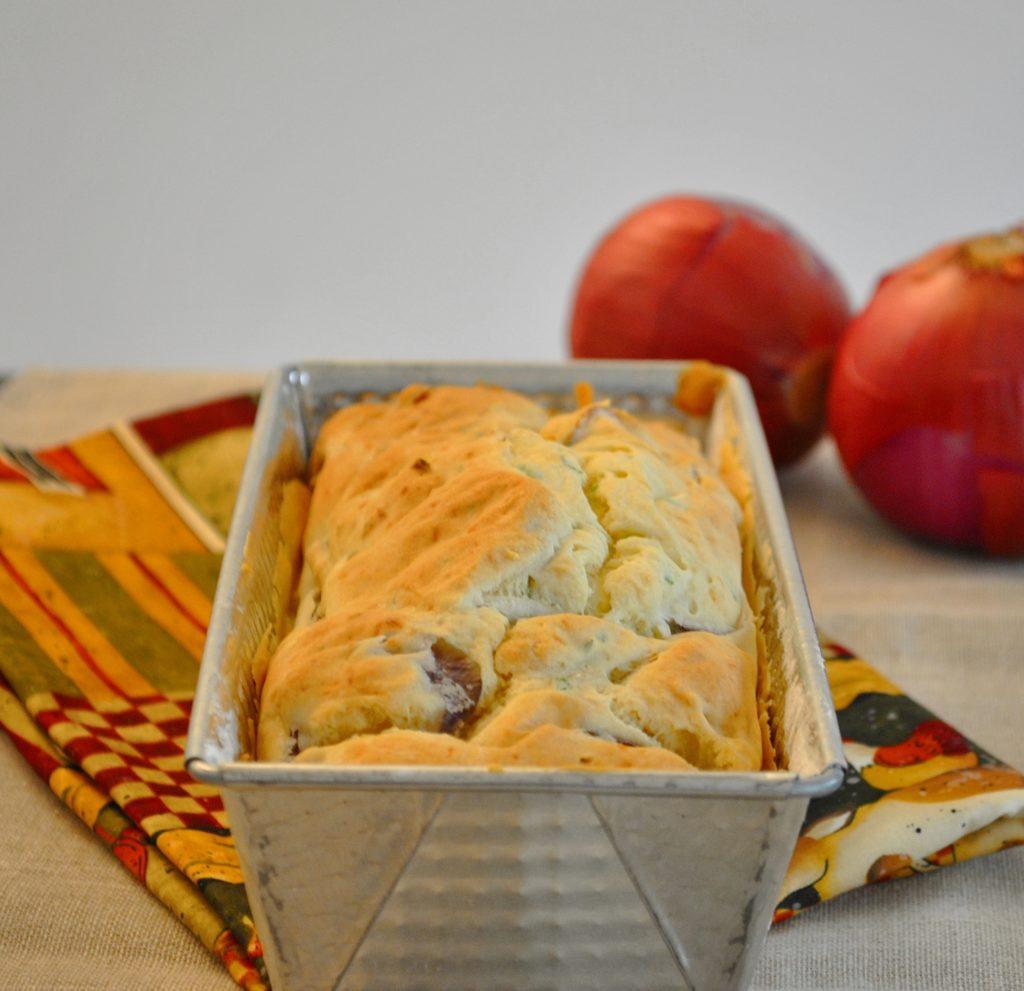 pane senza glutine con cipolla