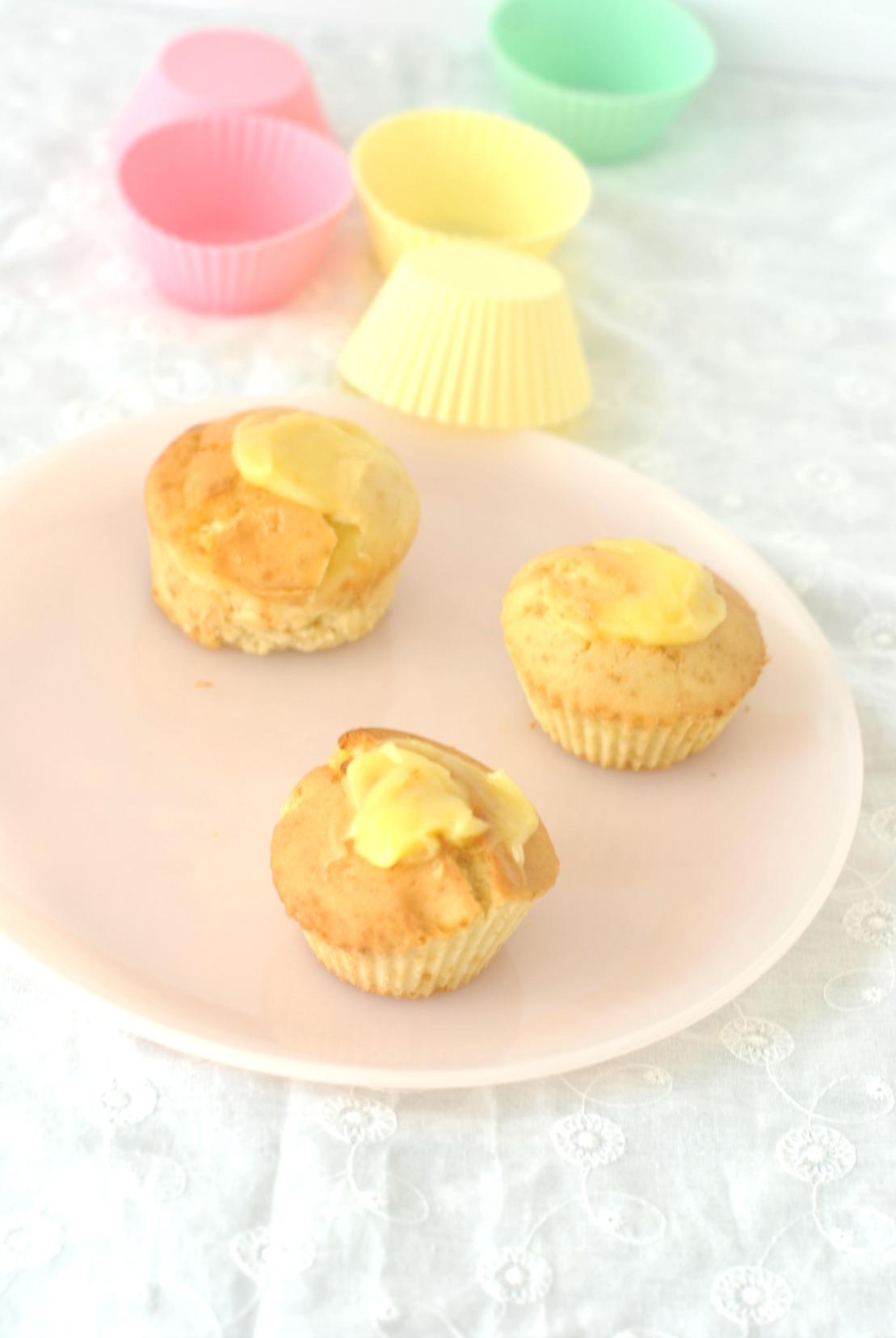 muffin sin gluten con lemon curd