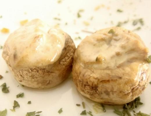 champiñones rellenos sin gluten