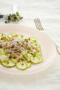 Primavera carpaccio di zucchine