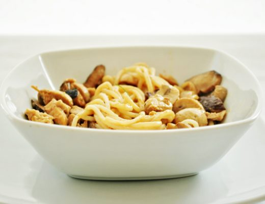 pasta sin gluten con hongo